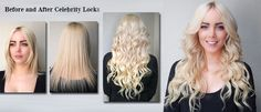 Laurie Before and After Celebrity Locks