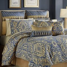Queen Comforter Sets Blue View All Bedding for Bed & Bath - JCPenney Blue Comforter Sets, Queen Comforter Sets, Luxury Bedding Collections, Luxury Bedding Sets, Beautiful Bedding Sets, Dorm Bedding, Bed Styling, Bed Sizes, Bed Spreads