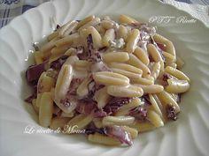 """""""Gnocchetti Sardi con Radicchio e Gorgonzola"""" Link ricetta --> http://www.prodottitipicitoscani.it/ricette-con-pasta/ricetta-con-gorgonzola/gnocchetti-sardi-con-radicchio-e-gorgonzola"""
