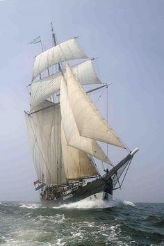 The three-masted Dutch schooner Oosterschelde