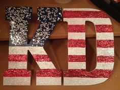 American themed letters from Kappa Delta. Would be cute for Alpha Xi Delta!