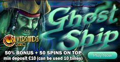 Now is the time to begin a ghastly adventure through murky waters in search of riches beyond your wildest dreams with April's game of the month: Ghost Ship. Casino Promotion, Ghost Ship, Play Online, Online Casino, Slot, Neon Signs, Sands, November, Movie Posters