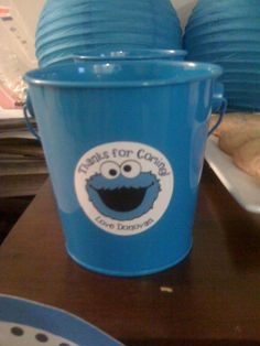 Cookie Monster - You can usually find mini buckets like this one before Spring in Target and Hobby Lobby!