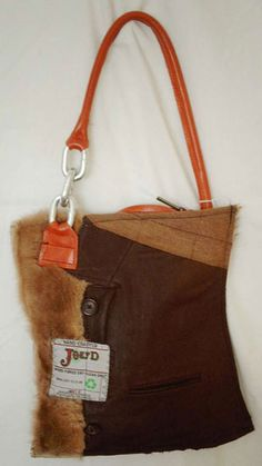 Another one! Recycled Harris tweed and leather bag by Joey-D of Edinburgh - love it!