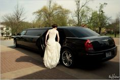 Black limo - Photo by Kori Wedding Limo, Chrysler 300, Picture Ideas, Wedding Ideas, Car, Pictures, Black, Style, Photos
