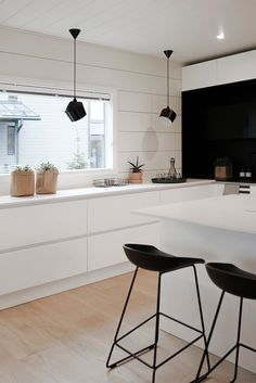 Scandinavian kitchen design is suitable for everyone, but it's particularly favorable in small houses where saving space is important