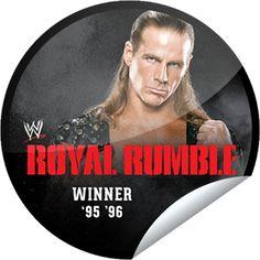 Steffie Doll's WWE Royal Rumble Winners Series: Shawn Michaels Sticker | GetGlue