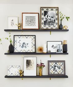 styled picture ledges by Emily Henderson