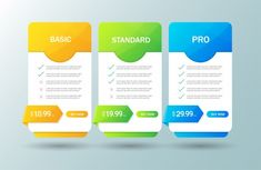 Creative illustration of pricing table with four options isolated Creative Invitation Design, Table Template, Pricing Table, Creative Illustration, Things To Buy, Vector Free, Price List, Templates, Ui Ux