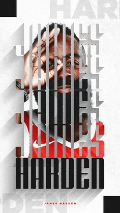 """""""James Harden x Mike Conley x Victor Oladipo x Carmelo Anthony ▪ The best designs are the ones you get done when you're randomly inspired at 💯"""" Typography Inspiration, Graphic Design Inspiration, Plakat Design, Sports Graphic Design, Basketball Art, James Harden, Sports Graphics, Web Design, Print Layout"""