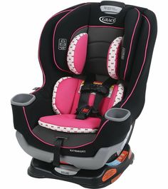 """Graco Extend2Fit Convertible Car Seat - Kenzie Extend2Fit features a 3-position extension panel that provides 5"""" of extra legroom allowing your child to ride safely rear-facing longer. The seat can be"""