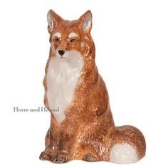 Fox Ceramic Bank Fox Gifts & Collectibles - Fox Gifts #2-BK-W-8FX at Horse and Hound Gallery