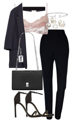"""""""Untitled #3018"""" by theeuropeancloset ❤ liked on Polyvore featuring Plakinger, Topshop, Zara, Yves Saint Laurent, 8 Other Reasons and Stuart Weitzman"""