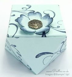 Faceted Gift Box Tutorial using Stampin' Up! Everything Eleanor Overhead