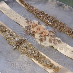 Bridal belts. bridal sashes from Haute Bride