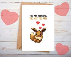 Hey, I found this really awesome Etsy listing at https://www.etsy.com/listing/264465091/valentines-card-him-pokemon-valentines