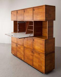 Jorge Zalszupin; Storage Unit for L'Atelier, 1960s.