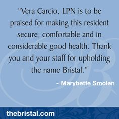 Amazing staff at The Bristal. Thank you for your note. Assisted Living, Names, Amazing, Health, How To Make, Salud, Health Care