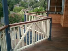 Are you looking for a deck, verandah, carport, pergola or even handrails and steps? Visit Backyard Bliss for all your outdoor home improvements. Veranda Railing, Deck Railing Design, Patio Railing, Deck Design, Pergola Attached To House, Deck With Pergola, Covered Pergola, Pergola Cover, Pergola Ideas
