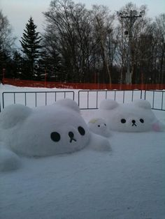 Rilakkuma in snow!
