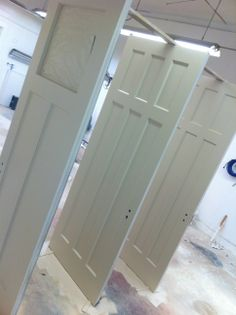 As you can see the time and effort put in to refinishing these door made the difference. They look like new! & This door has