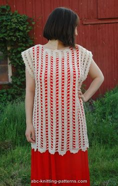 ABC Knitting Patterns - Bruges Lace Sleeveless Summer Top