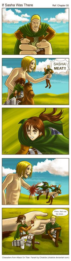 AOT: If Sasha Was There by Chiaticle.deviantart.com on @DeviantArt