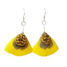 veren oorbellen geel