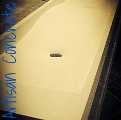 Fabric formed double Swell Basin by Concrete Works Bermuda - Artisan Concrete. Concrete Basin, Sink, Artisan, Fabric, Sink Tops, Tejido, Vessel Sink, Tela, Concrete Pool