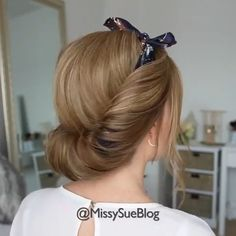 Lovely hairstyle by Bun Hairstyles For Long Hair, Scarf Hairstyles, Buns For Short Hair, Easy Hair Up, Beach Hairstyles, Men's Hairstyle, School Hairstyles, Party Hairstyles, Hairstyles Haircuts