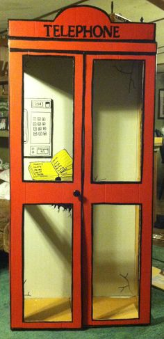 Phone booth I made for Tanners superman party