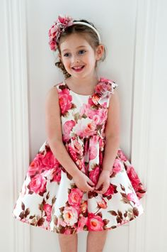Dress (2-14 yrs) and Headband by David Charles