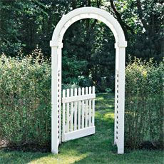 Arched garden arbor (instructions on how to build: This Old House newsletter 2-7-13): for back garden area of Lake house