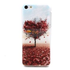 Embossing Slim for #iPhone5c Hard PC Case Heart Shaped Maple