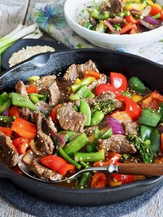 Spicy, Food And Drink, Beef, Red Peppers, Meat, Steak