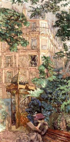 bofransson:  The Kiosk (Place Vintimille) / Edouard Vuillard - 1917-1918