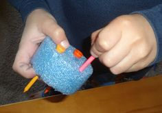 Time for Play: Pool Noodles and Golf Tees.... fine motor development