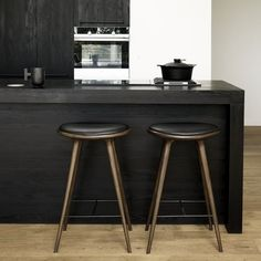 High Stool, Bar Height - Premium Finish - modern - dining chairs and benches - Product Partners High Bar Stools, High Stool, Counter Height Stools, Modern Bar Stools, Modern Dining Chairs, Counter Top, Hardwood Furniture, Kitchen Furniture, Cool Furniture