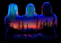 Spectacular Fluorescent Bodyscapes Illuminated with a Black Light by John Poppleton