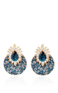 Luna Comet Earrings In Montana by Shourouk for Preorder on Moda Operandi