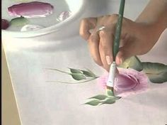 Donna Dewberry at the Creative Painting Convention Prima Flo Roses - YouTube