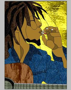 Bob Marley by Wendy's Stained Glass