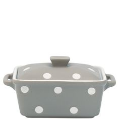 Kleine GreenGate braadpan warm grijs met witte stippen
