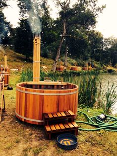 The lakeside spa at wilderness festival
