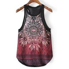SHARE & Get it FREE | Retro Style Round Collar Kaleidoscope Print Racerback Tank Top For WomenFor Fashion Lovers only:80,000+ Items • FREE SHIPPING Join Twinkledeals: Get YOUR $50 NOW!