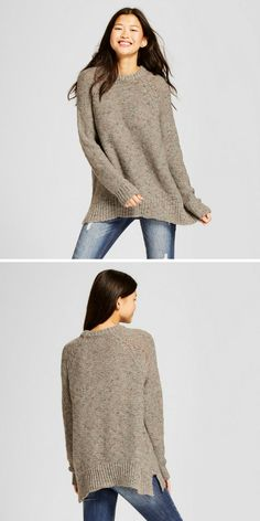 Women's Pullover Sweater. Gray or cream, sizes xs-xxl.  #sweatersforfall #sweateroutfits #ad