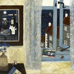 gary bunt(1957- ), the window. oil on canvas, 40 x 40 ins. portland gallery, london, uk http://www.portlandgallery.com/artist/Gary_Bunt/item/archive/26105/The_Window