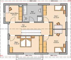 Familienhaus Vero   Satteldach mit flacher Dachneigung