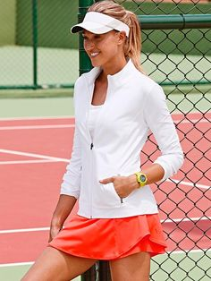 Athleta Bustle Skort | Cute Tennis Clothes @ http://www.FitnessApparelExpress.com