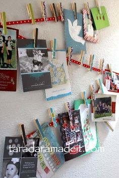 10 Ways to Display Christmas Cards, the polka dot chair